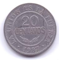 BOLIVIA 1987: 20 Centavos, KM 203 - Bolivia