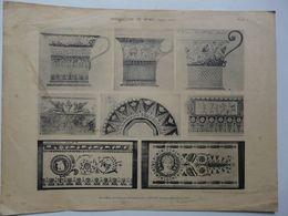 Documents Anciens De La Manufacture Nationale De SEVRES - G. Lechevallier-Chevignard - Planche 14 - Epoque Empire - Sèvres (FRA)