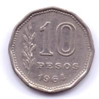ARGENTINA 1964: 10 Pesos, KM 60 - Argentine