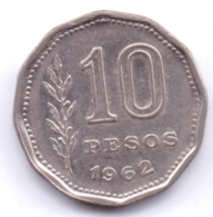 ARGENTINA 1962: 10 Pesos, KM 60 - Argentine