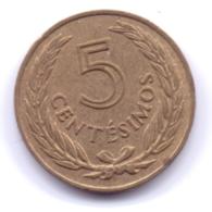 URUGUAY 1960: 5 Centesimos, KM 38 - Uruguay
