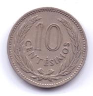 URUGUAY 1953: 10 Centesimos, KM 35 - Uruguay
