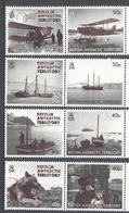 BRITISH ANTARCTIC TERRITORY,2012,BLACK & WHITE PHOTOS, DOGS, PLANES, BOATS, SHIPS,8v+S/SHEET, MNH,NICE - Territorio Antártico Británico  (BAT)