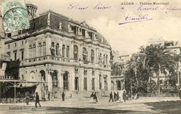 - ALGER -  Le Théâtre Municipal  (animée)  -21248- - Algeri