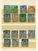Somme 56 Timbres Détachés Des Bureaux De La Somme Sur Sage Dont 3 Paires - Marcophilie (Timbres Détachés)