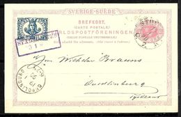 704 - SWEDEN - SVERIGE - 1900 - LOCAL BYPOST - STATIONERY CARD - TO CHECK - Francobolli