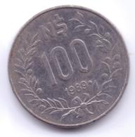 URUGUAY 1989: 100 Nuevos Pesos, KM 96 - Uruguay