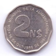 URUGUAY 1981: 2 Nuevos Pesos, KM 77 - Uruguay