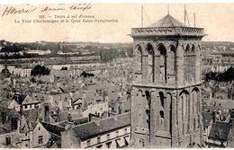 CPA 37 TOURS Tour Charlemagne Quai St Symphorien - N° 211, Voyagée, écriture Plume, Timbrée, 1904, DND - Tours