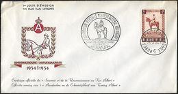 1955 - BELGIË/BELGIQUE/BELGIEN - Cover + Michel 989 - Y&T 938 [Albert I] + NAMUR - Briefe U. Dokumente
