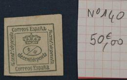 Espagne Neuf Y&t N° 140 - 1868-70 Gobierno Provisional