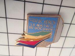 416b Pin's Pins / Beau Et Rare / THEME : INFORMATIQUE / RANK XEROX LA MAITRISE DU DOCUMENT ORDINATEUR - Informatique
