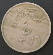 ARABIE SAOUDITE - 4 GHIRSH 1956 ( 1376 ) - Sa'ud Bin Abd Al-Aziz - KM 42 - Saudi Arabia - Saudi-Arabien