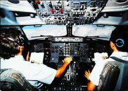 Intérieur COCKPIT - Boeing 737-300 - Sabena - Avionique (Avionics Avionica) - GPS/Radios