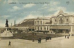 028 573 - CPA - Belgique - Louvain - La Station Et Le Monument Van De Weyer - Leuven