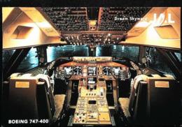 Intérieur COCKPIT - Boeing 737-400 - JAL Japon Airlines - Avionique (Avionics Avionica) - GPS/Avionics
