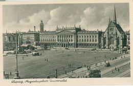 Leipzig; Augustplatz, Universität (Strassenbahn) - Nicht Gelaufen. (D. T. V.) - Leipzig