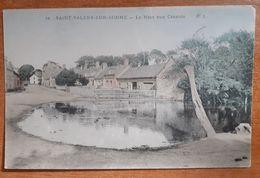 Saint Valery Sur Somme .la Mare Aux Canards Animée Pêcheurs à Droite Colorisée E 4 - Saint Valery Sur Somme