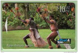 Fiji - 1994 Culture - $10 Spear Dance - FIJ-039 - FU - Fidji