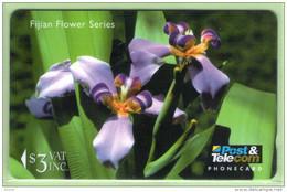 Fiji - 1995 Flowers - $3 Day Iris - FIJ-066 - VFU - Fidji