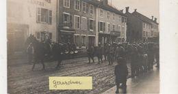 CARTE PHOTO GERARDMER DEFILE MILITAIRE 1915 - Gerardmer