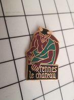 1419 Pin's Pins / Beau Et Rare / THEME : VILLES / RENNES LE CHATEAU DIABLE ABBE SAUNIERE TRESOR - Villes