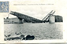N°1000 R -cpa Belleville Sur Saône -lancement Du Pont -la Rupture- - Bruggen