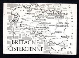Carte Géographique De La Région BRETAGNE CISTERCIENNE Bégard, Le Relecq, Langonnet, Lanvaux, Campénéac - Bretagne