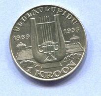 ESTONIA  1933 SILVER COIN Very Rare Error, Super Condition - Estland