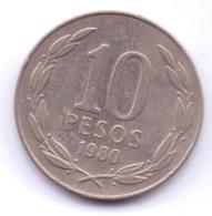 CHILE 1980: 10 Pesos, KM 210 - Chili