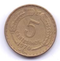 CHILE 1970: 5 Centesimos, KM 190 - Chili