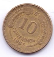 CHILE 1965: 10 Centesimos, KM 191 - Chili