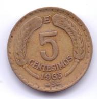 CHILE 1965: 5 Centesimos, KM 190 - Chili