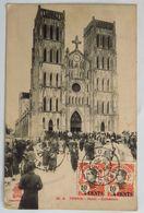 C. P. A. : TONKIN : Hanoï : Cathédrale, Animé, Timbres En 1920 - Viêt-Nam