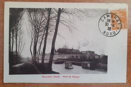 Bouchain Pont Du Halage.Peniche.1921.timbre Taxe Au Verso.E4 - Bouchain