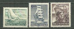 POLAND MNH ** 658-660 Journée Des Chantiers Navals Yachts Frégate DOR POMOZA Ouvrier Bateau Voile - Unused Stamps