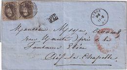 BELGIQUE 1862 LETTRE DE LIEGE POUR AIX LA CHAPELLE - Belgio