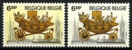 België 1976-Cu - Witte Achtergrond I.p.v. Gele - Arrière-plan Blanc Au Lieu De Jaune - SUP - Abarten Und Kuriositäten