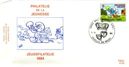 14184068 Be 19841020 Bx; Phil. Jeunesse, BD, Schtroumpf; Fdc Cob2150 - 1981-90