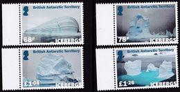 BAT, 2019, 809/12,  MNH **, Eisberge,  Icebergs, - Territoire Antarctique Britannique  (BAT)