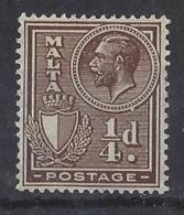 "MALTA.....KING GEORGE V..(1910-36.)..."" 1926.."".......SG157.........MH... - Malta (...-1964)"