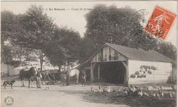 CPA   28 EN BEAUCE  COUR DE FERME  - MARECHAL FERRANT   - CACHET CHARTRES  1911 - Chartres
