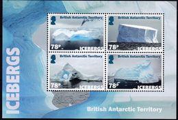 BAT, 2019, 813/16 Block 28,  MNH **, Eisberge,  Icebergs, - Territoire Antarctique Britannique  (BAT)