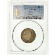 Monnaie, Haïti, 20 Centimes, 1895, Paris, PCGS, AU58, Argent, KM:45, Gradée - Haïti