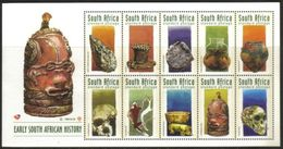 South Africa - 1998 Early South African History Booklet Sheet (**) # SG 1055b , Mi 1130-1139 - South Africa (1961-...)