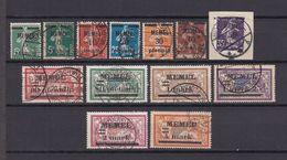 Memelgebiet - 1920/22 - Michel Nr. 18/28 + 31 - Gestempelt - 104 Euro - Klaipeda
