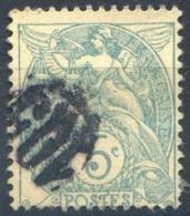 France N°111 - Oblitération Jour De L'an Cercle 105 - (F1369) - 1900-29 Blanc