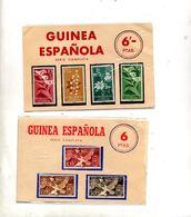 2 Pochettes Timbre Guinee  Espagne - Guinea Española