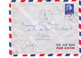 Reunion  : CFA 337 Sur Lettre Oblitération St Denis 1958 - Réunion (1852-1975)