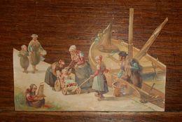 Découpis Fin XIXe. Sur Le Port. - Victorian Die-cuts